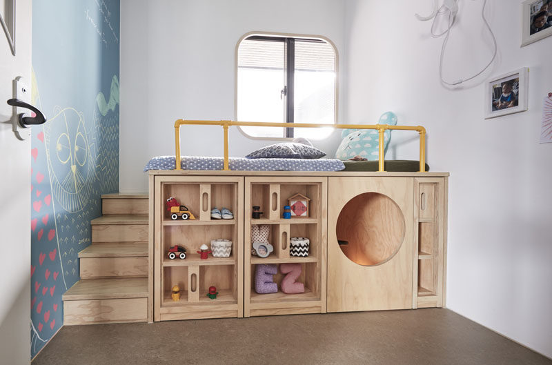 Design Detail U2013 This Childrenu0027s Bedroom Has A Custom Bed Unit With Storage  And A Hidden Play Space