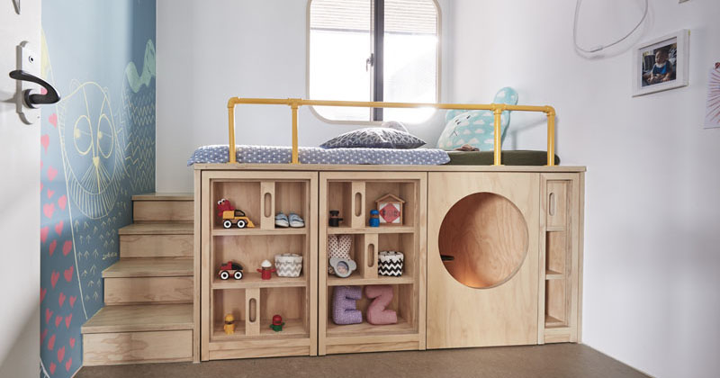 Design Detail - This Children's Bedroom Has A Custom Bed ...
