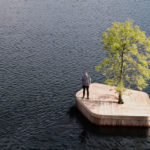 A Floating Island With A Single Tree Has Been Added To The Copenhagen Harbor