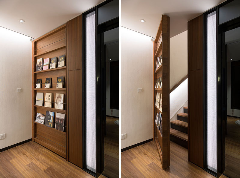 When PRISM Design and Mori Design were designing a modern villa in China, they decided to have a little bit of fun in the form of having a hidden bedroom. #HiddenDoor #Bookshelf