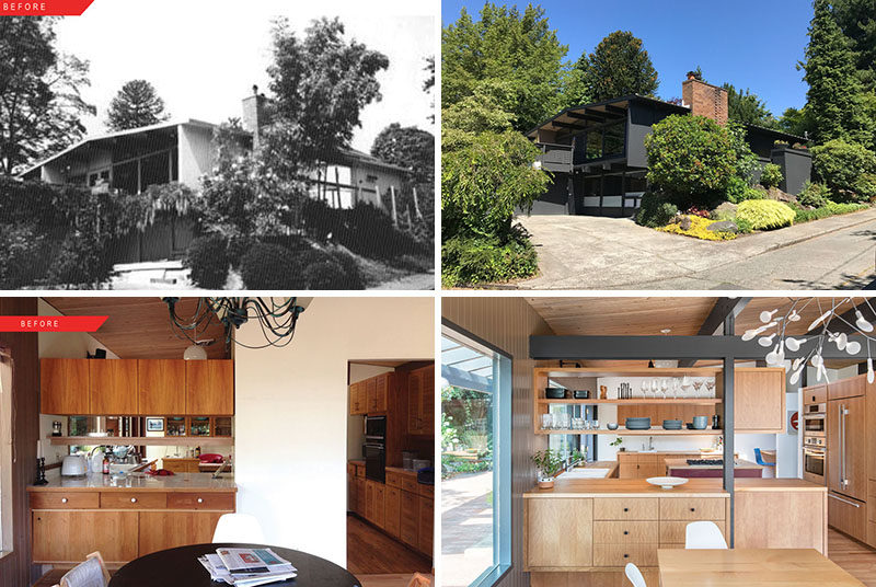 SHED Architecture & Design together with interior designerJennie Gruss, have given a 1957 architect-designed mid-century home a fresh update fora young family in Seattle, Washington. #MidCenturyRemodel