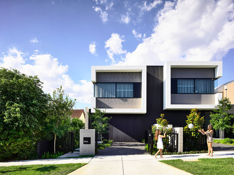 Jamison Architects have designed Masuto, a contemporary duplex in Melbourne, Australia, that features open plan social areas and abundance of light. #ModernDuplex #Duplex #Architecture