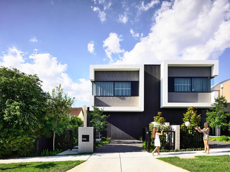 Jamison Architectshave designed Masuto, a contemporary duplex in Melbourne, Australia, that features open plan social areas and abundance of light. #ModernDuplex #Duplex #Architecture