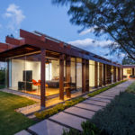 Arquitectura x Have Designed A Single Level Home Made Of Steel And Glass