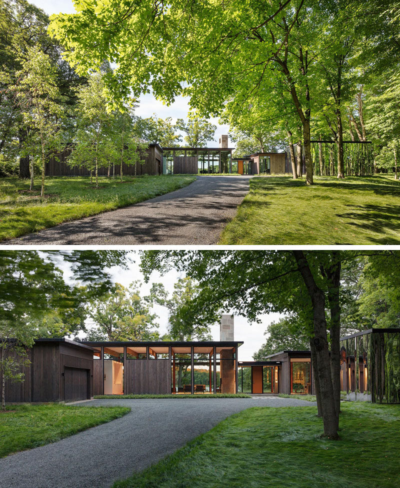 ALTUS Architecture + Design have designed a modern house in Woodland, Minnesota, that seeks to quietly integrate into the surroundings while capturing dramatic views and optimizing natural light. #ModernHouse #Architecture