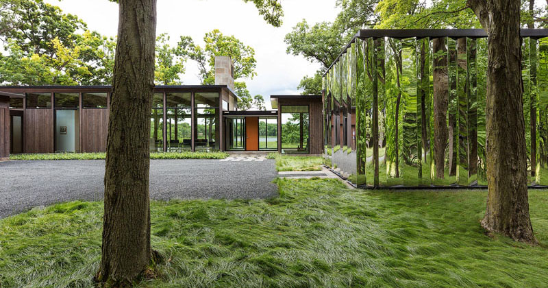 Wood Shed Plans >> This Home Has A Mirrored Shed That Almost Blends Into Its Surroundings | CONTEMPORIST