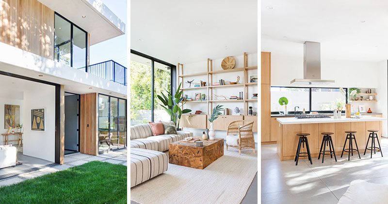 Architecture and design firm Electric Bowery have completed the 5th Street Residence, a mid century-inspired house for a corner lot in Santa Monica, California. #ContemporaryHouse #Architecture