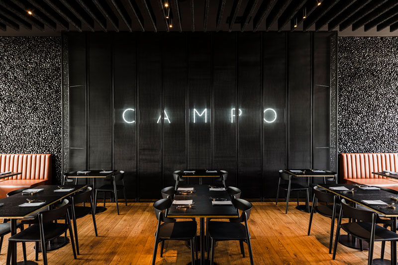 The Campo Modern Grill Was Designed With Hand Laid Black