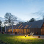 This Barn-Like Visitors Center Features Nine Movable Facade Parts