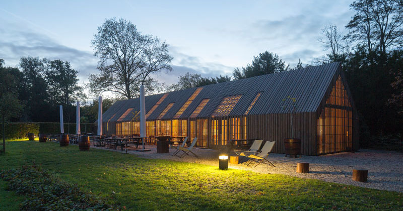 This Barn Like Visitors Center Features Nine Movable