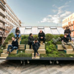 A Portable Design Office With Outdoor 'Mountain' Seating Was Created By Enorme Studio and MINI For The Madrid Design Festival