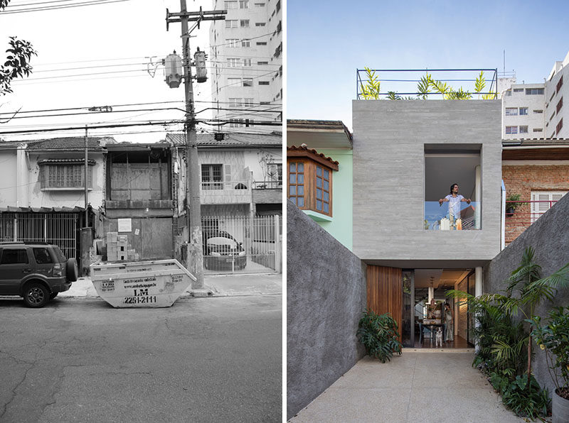 Estudio BRA have transformed an old house in Sao Paulo, Brazil, and turned it into a bright and modern home with outdoor spaces. #ModernHouse #Renovation