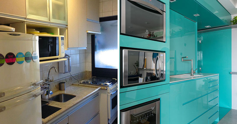 Light And Bright Kitchen Blends Classic With Contemporary: A New Bright Blue Kitchen For This Small
