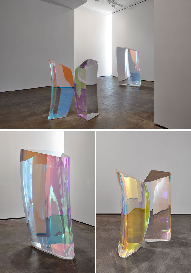 These contemporary sculptures created by Japanese artist Mariko Mori, are an expression of her ongoing research into superstring theory and particle physics, coupled with her speculation as to how multiple hidden universes might be represented. #Art #Sculpture #Modern