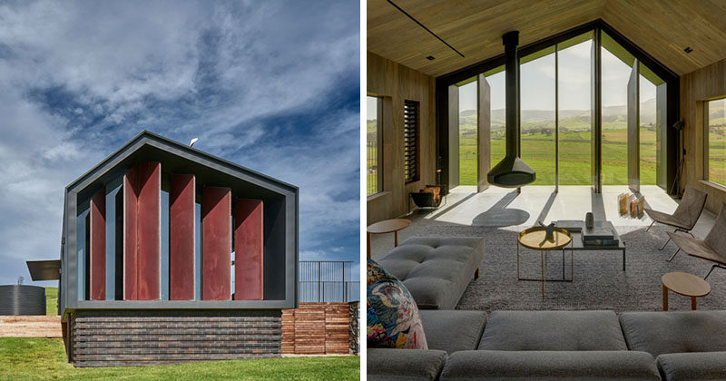Atelier Andy Carson have designed a two bedroom modern guest house in Gerringong, Australia, that has simple farm shed like appearance, with a welcoming interior. Click through to see more photos. #GuestHouse #ModernArchitecture #Architecture