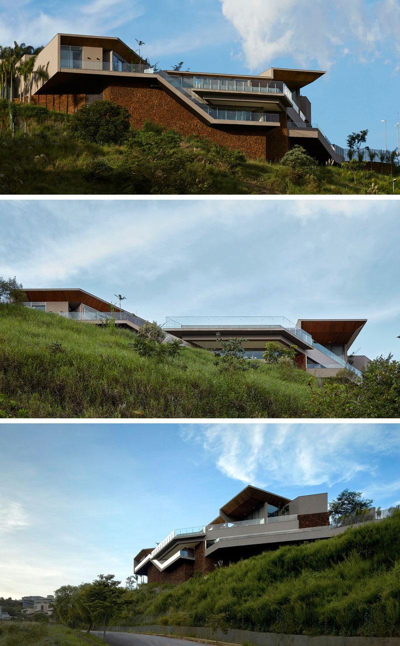 Anastasia Arquitetos have designed a new modern house in Nova Lima, a mountainous town near Belo Horizonte, Brasil. #ModernHouse #Architecture