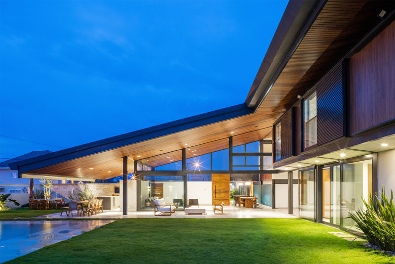 A Large Sloping Roof Is A Prominent Feature Of This New