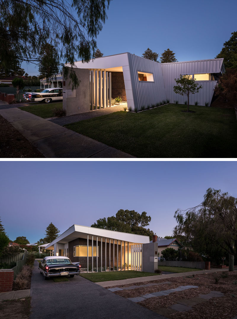 Modular architecture firm mishack. worked together with their clients to design a modern home that was inspired by their deep love of mid-century architecture. #ModernHouse #ModernArchitecture
