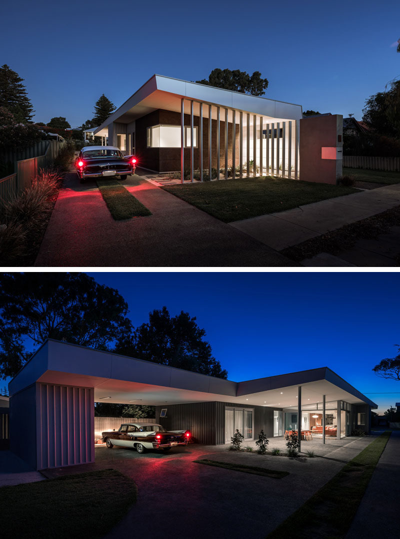 This modern house has a rear carport that can be built on to create a separate retreat for the parents and eventually handover the main part of the house to the growing children. #ModernHouse #Carport