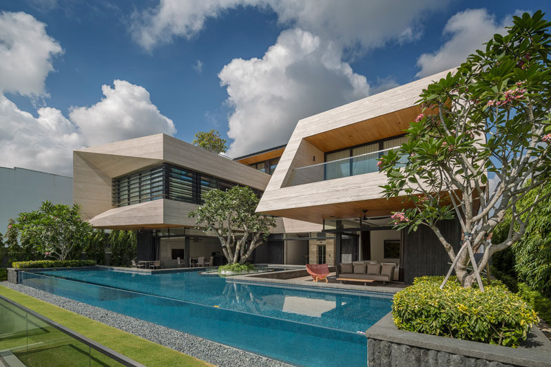 Wallflower Architecture + Design have designed a modern house in Singapore, for a family that wanted to create their forever home. #ModernHouse #Architecture
