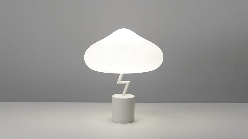 "South Korean designer Jinyoun Kim has created the Lightning Lamp, which was inspired by an old Korean phrase, ""Being struck by a thunder out of blue sky"", which describes people confronting unexpected catastrophic events. #ModernTableLamp #Lighting #Design"
