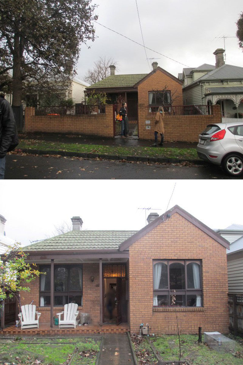 BEFORE PICS - Habitech Systems have designed the renovation and extension of an original Victorian cottage in Hawthorn, an inner suburb of Melbourne, Australia. #AustralianArchitecture #BrickHouse