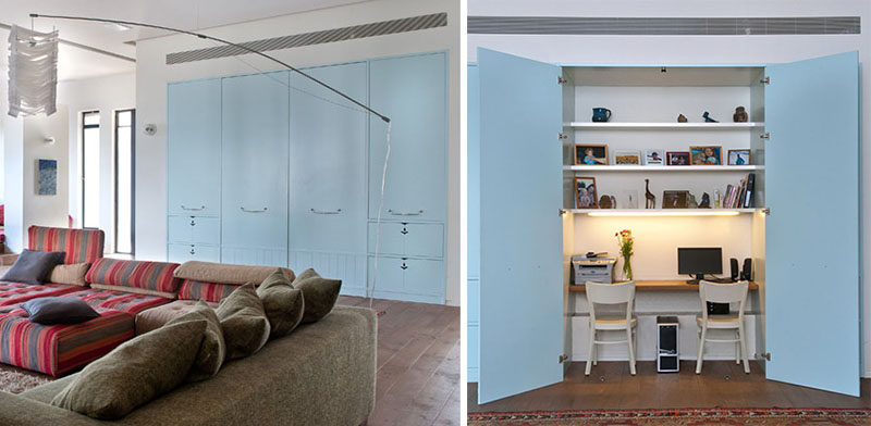 Design Idea ? Hide A Home Office Inside Built-In Closets