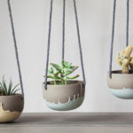 Celine Fafard Of Parceline Has Created A Collection Of Stoneware With Unique Drip Patterns