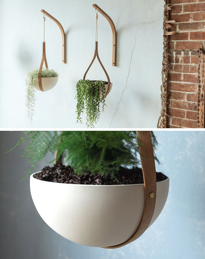 From his studios in Cornwall, England, designer Tom Raffield has created his new line of modern wood planters named 'The Green Range'. #ModernPlanter #Plants #HangingPlanter #Design