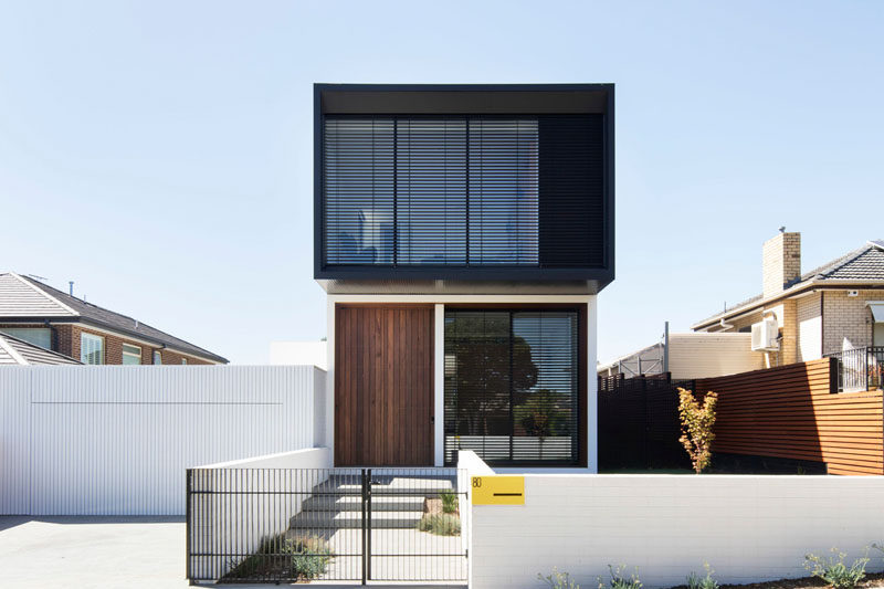 MODO Architecture have designed a new house in a suburb of Melbourne, Australia, for their clients who wanted a home that would feel open, be light filled, have natural elements and be connected to the garden. #ModernHouse #ModernArchitecture