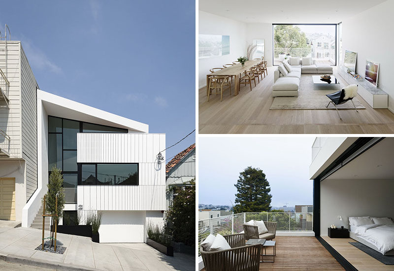 Vivian Lee and Robert Edmonds of Edmonds + Lee Architects, have designed their own dream home in San Francisco, California. #Architecture #InteriorDesign #ModernHome