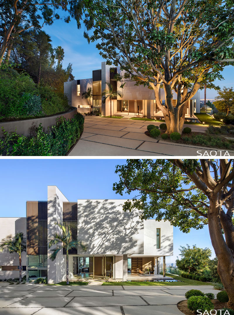 Architecture firm SAOTA have recently completed their first project in Bel Air, California, that's a remodel of an existing 1970's house with views of Los Angeles. #ModernHouse #Architecture #HouseDesign #Landscaping