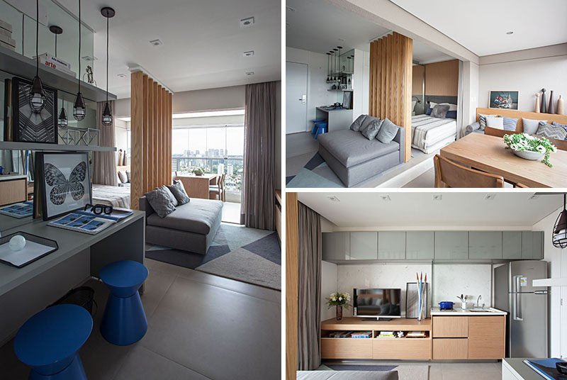 This small apartment makes efficient use of limited space - Modern small apartment design ...