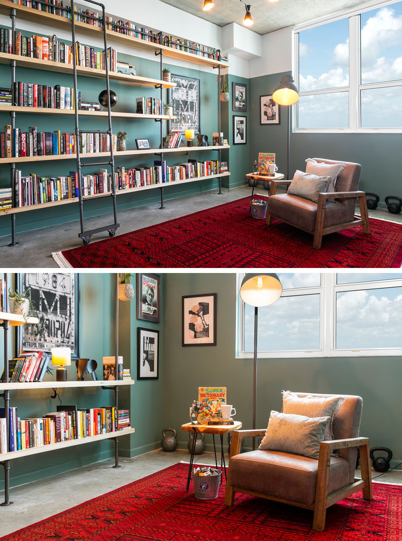 Before After An Empty White Room Is Transformed Into A Home Library