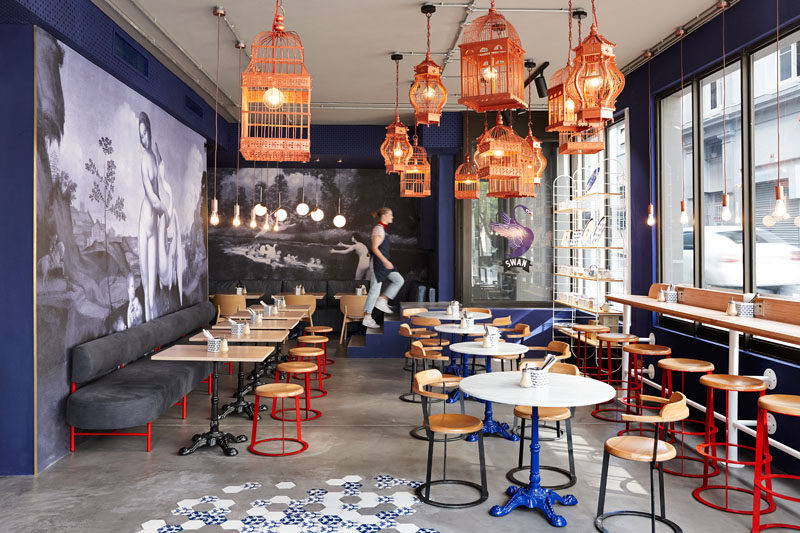 Haldane Martin have recently completed a new café for Cape Town: a traditional French crêperie called Swan Café. #CafeInterior #InteriorDesign