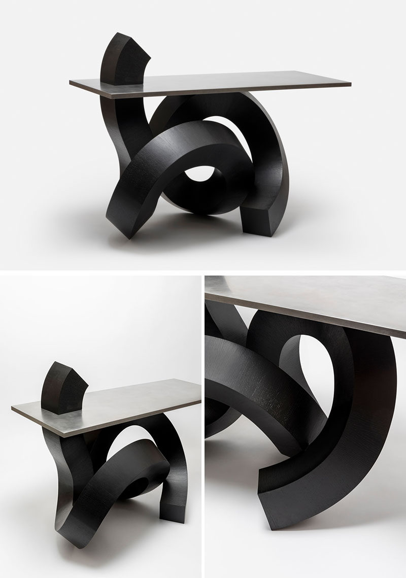 Korean designer Chulan Kwak has designed a modern chair and table that were inspired by Caoshu, Chinese cursive brush-writing. #ModernFurniture #Cursive #ModernDesign #FurnitureDesign