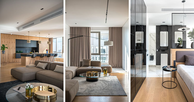 Maxim Doschisnky and Pavel Voitov of ZOOI interior studio, have recently completed the design of a large and modern apartment in Kiev, Ukraine. #Apartment #ModernInterior #InteriorDesign