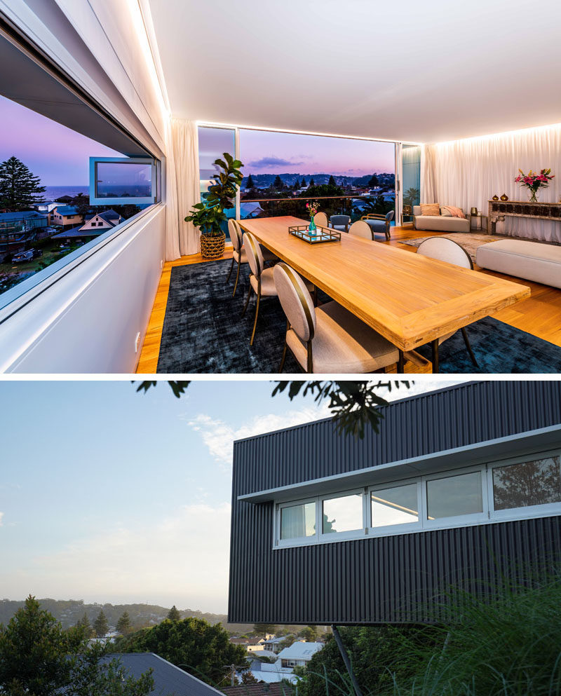 Along the entire northern wall of this modern studio are a commercial grade set of bi-fold windows, which overlook the neighborhood. #Windows #BiFoldWindows #Studio