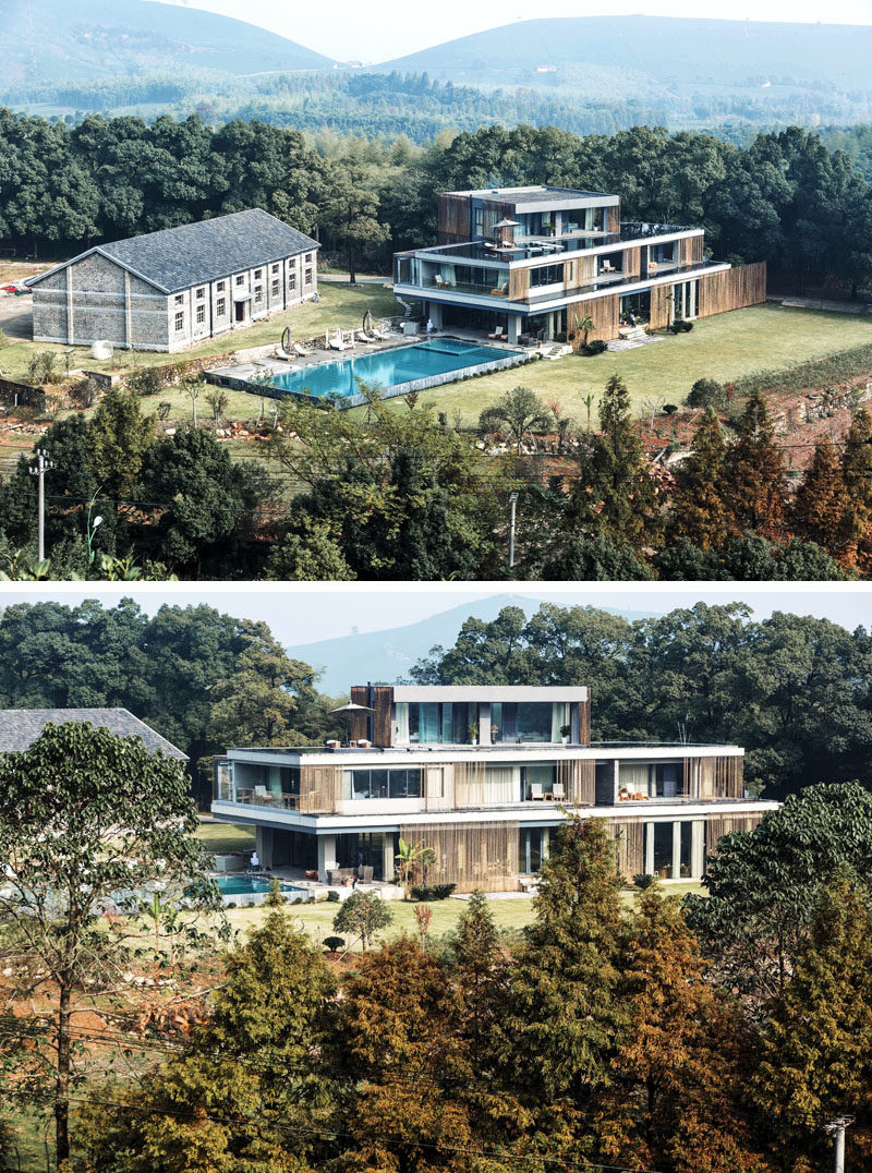 Architecture firm STUDIO 8, have designed a luxury rural resort named ANADU, that's located at the foot of the Mogan Mountain in Zhejiang province, China, and is surrounded by lush bamboo forests and tea fields. #Hotel #China #Architecture