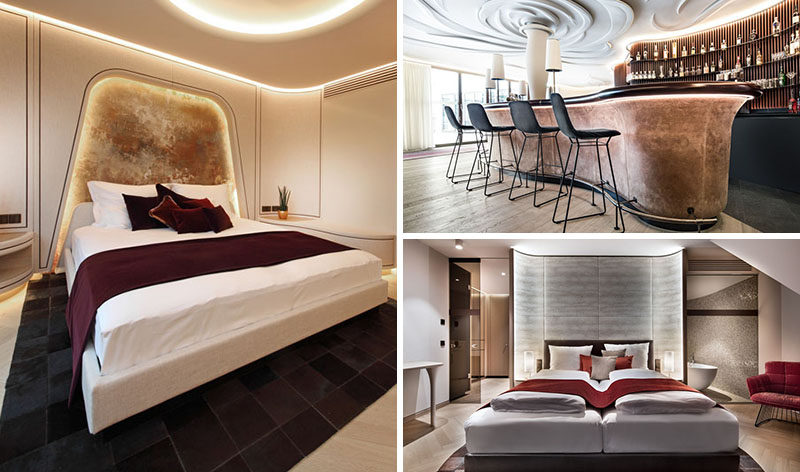 Design firmroomcode.GmbHhave recently completed the interior design forHotel Neues Tor, that's located in Bad Wimpfen, a historic spa town in Germany. #Hotel #Germany #InteriorDesign