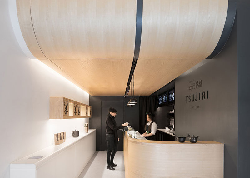 Design practice MIM Studios, have recently completed the newest location of Tsujiri London, a modern Japanese tea house. #TeaHouse #RetailDesign #CafeDesign