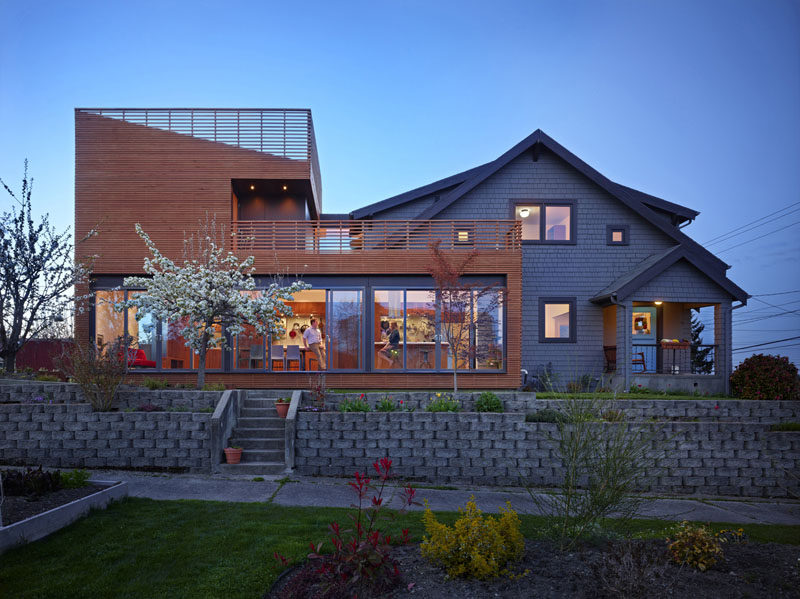 Architecture Building Culture have completed a modern addition to a historic 1905 home in the Beacon Hill neighborhood of Seattle, Washington. #Addition #Architecture #HouseDesign