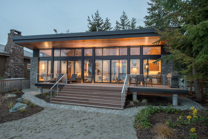 Architecture firm Designs Northwest, have recently completed a 1,100 square foot hideaway residence situated on the east side of Camano Island, Washington. #BeachHouse #Studio #Architecture