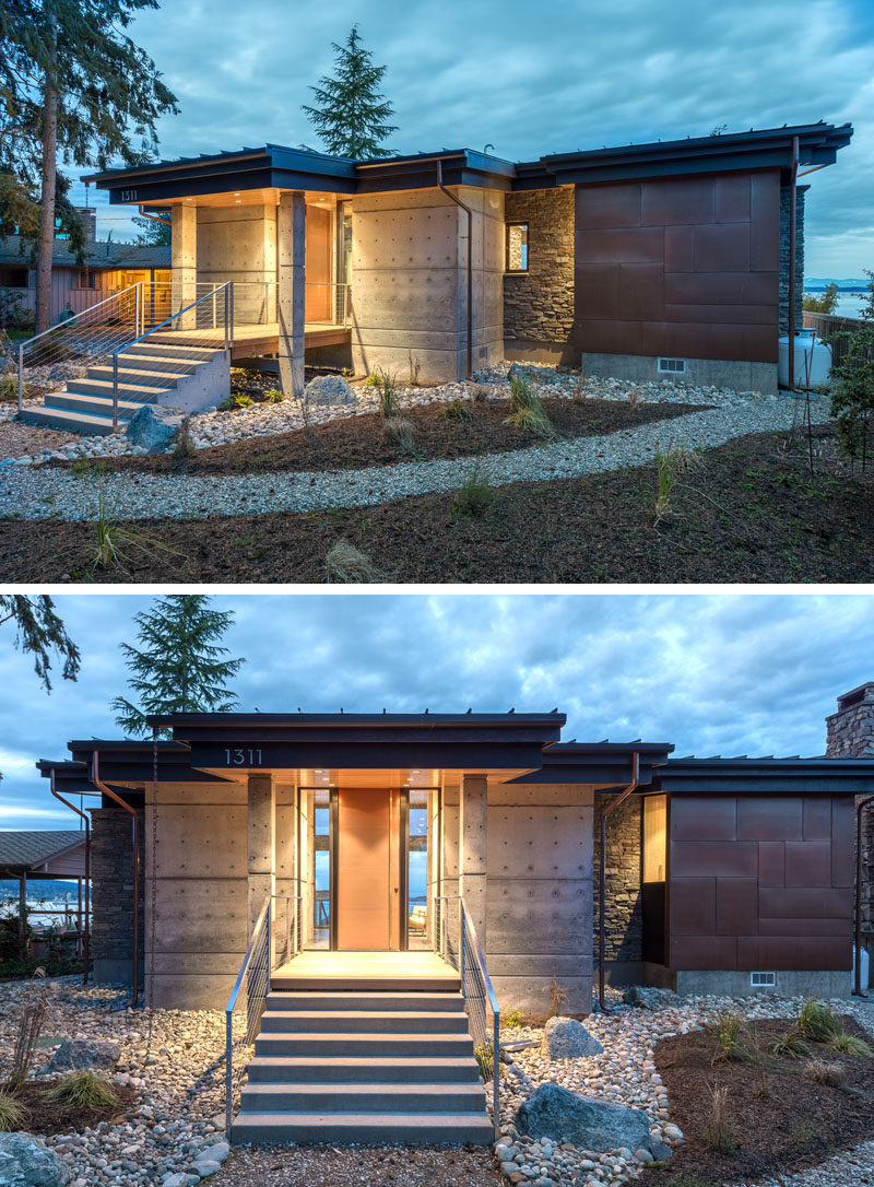Architecture firmDesigns Northwest, have recently completed a1,100 square foot hideaway residence situated on the east side of Camano Island, Washington. #Architecture #Landscaping #ModernStudio