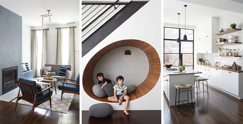 Frederick Tang Architecture have designed the renovation and interiors of a contemporary townhouse in Brooklyn, New York, for a family with young children. #Townhouse #InteriorDesign