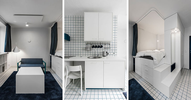 HEIMA architects Have Designed A Collection Of Micro Apartments, Each With Their Own Loft Bed