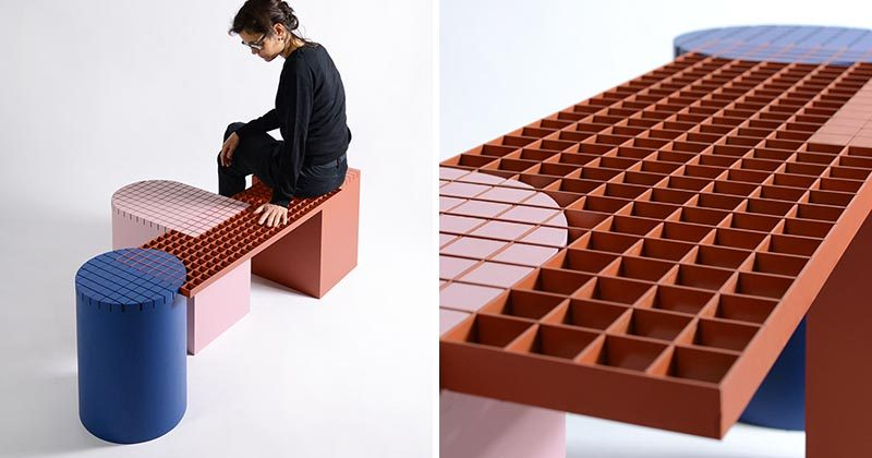 Belgium design firm nortstudio, have created 'Urban Shapes', a modern bench that draws inspiration from forms and materials found around the city. #Design #Furniture #ModernBench #Bench #Seating