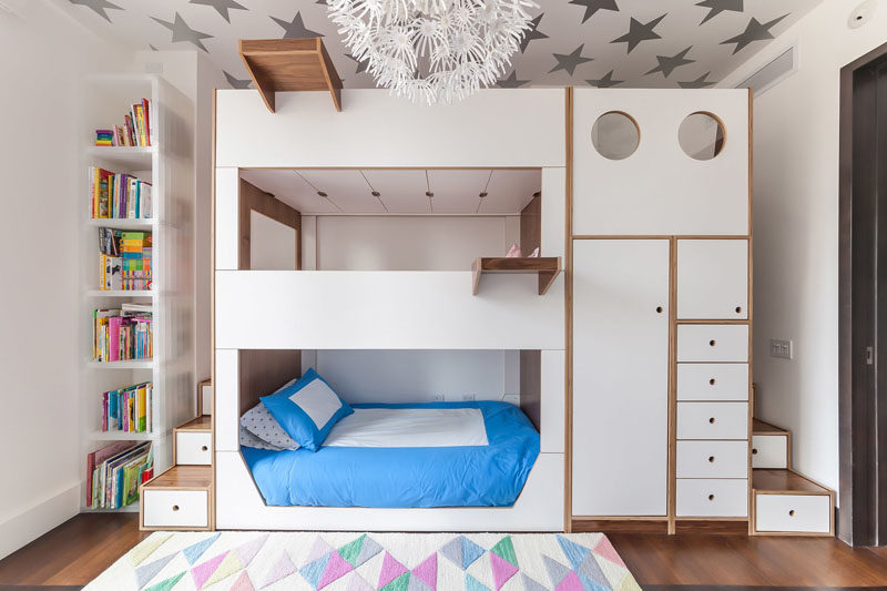 This Triple Bunk Bed Was Designed With Storage And Stairs