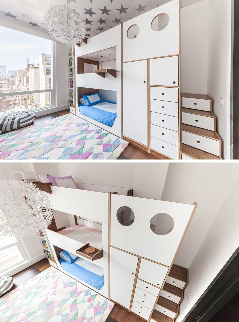 Picture of: This Triple Bunk Bed Was Designed With Storage And Stairs
