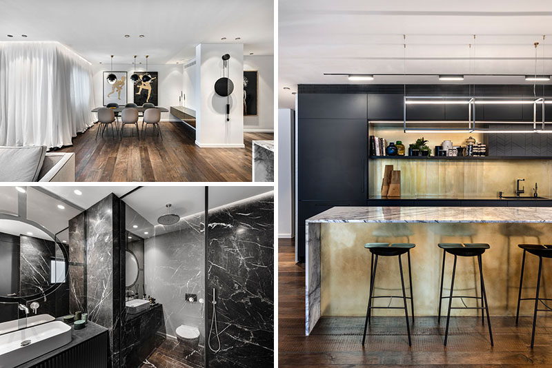Aviram – Kushmirski Interior Designhave recently completed the modern transformation of an apartment in Tel Aviv, Israel. #ApartmentInterior #InteriorDesign #ModernApartment
